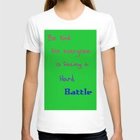 sayings T-shirts featuring Be Kind by Linda Tomei