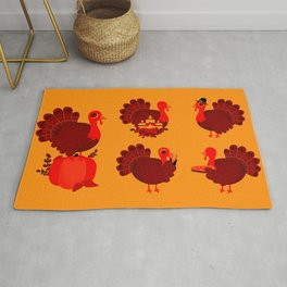 Vintage Turkey Pattern Rug