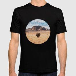 The Lonely Bison, Salt Lake City, Utah-Desert Landscape T-shirt