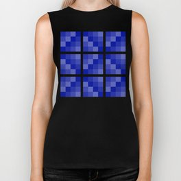 Four Shades of Blue Square Biker Tank