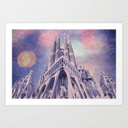 Barcelona Sagrada Familia Art Print
