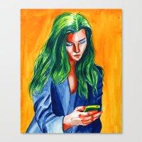 Tetrad girl Canvas Print