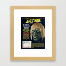 Zombie Mask Framed Art Print