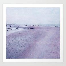 purple beach Art Print
