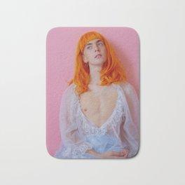 sam as me on pink Bath Mat