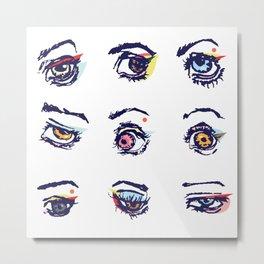Left eyes Metal Print