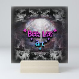 """Beez Lee Art Looking Through The Clouds"" Mini Art Print"