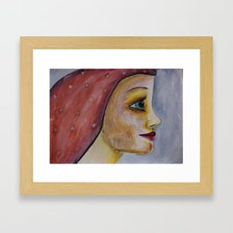 She carries the stars Framed Art Print