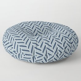 LunaSol organic pattern blue 001 Floor Pillow