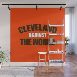 Cleveland Against The World Football Wall Mural