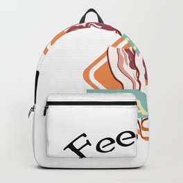 Feed Me Bacon Pig Lover Funny Farm Animal Gifts Backpack