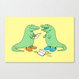 Crocs Canvas Print