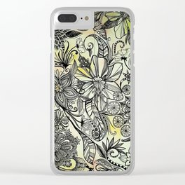 Floral Enchantment Clear iPhone Case