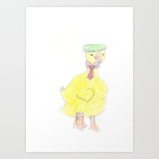 Childhood Drawings (Duck) Art Print