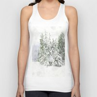 snowboarding Tank Tops featuring Winter Fresh by Pure Nature Photos