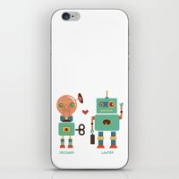lawyer iPhone & iPod Skins featuring Robotic Love by akaink