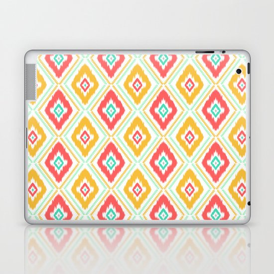 Zig Zag Ikat (white) Laptop & iPad Skin