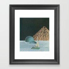 Heaven In A Little Boat Framed Art Print