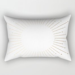 Simply Sunburst in White Gold Sands on White Rectangular Pillow