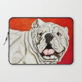 Uga the Bulldog Painting - Red Background Laptop Sleeve