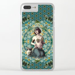 Marie-Louise-Louise Clear iPhone Case