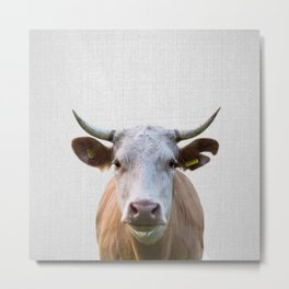 Cow - Colorful Metal Print