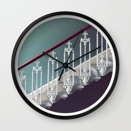 Stairway to heaven - dot circle graphic Wall Clock