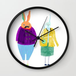 Mr BILLY &  Mrs LILLY Wall Clock