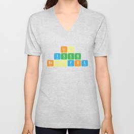 Science Periodic table Element Life Gift Unisex V-Neck