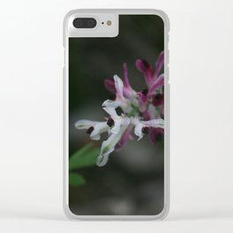 Earth Smoke Flower Clear iPhone Case