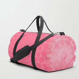 FLORAL MANDALA PINK Duffle Bag