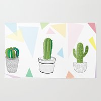 cactus Area & Throw Rugs featuring Cactus by March Hunger