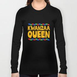 Kwanzaa Queen African-American Black Heritage Long Sleeve T-shirt