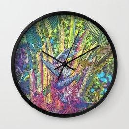 Ravenala Wall Clock