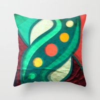 planets Throw Pillows featuring Planets by VessDSign