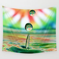 splash Wall Tapestries featuring SPLASH by ThePhotoGuyDarren