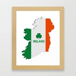 Ireland map Framed Art Print