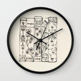 Row of Books Wall Clock