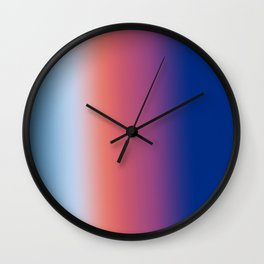 Ombre Clouds 1 Wall Clock
