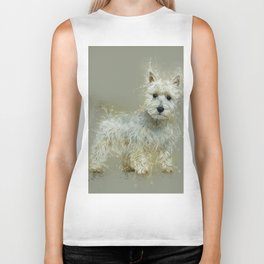 West Highland White Terrier Biker Tank
