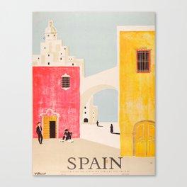 Spain Vintage Travel Poster Mid Century Minimalist Art Canvas Print
