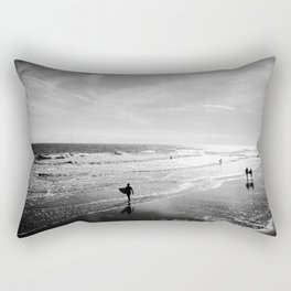 Looking for Waves at Folly Rectangular Pillow