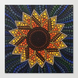 Dotty Sunflower Canvas Print