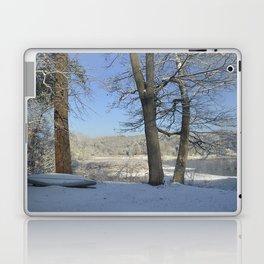 December Snow Delaware River View Laptop & iPad Skin