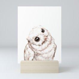 Baby Snowy Owl Mini Art Print