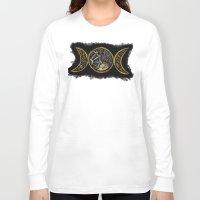 steam punk Long Sleeve T-shirts featuring steam punk goddess  by Shonda Robb