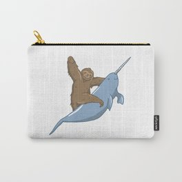 Narwhal Unicorn Beluga Sea Life Sloth Tusk Gift Carry-All Pouch
