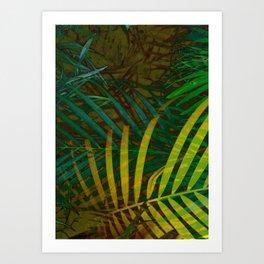 TROPICAL GREENERY LEAVES no6 Art Print