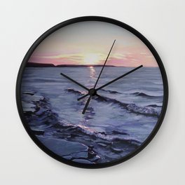 Craig Leith - 2017 - Acrylic on Canvas - Michael G. Wilson Wall Clock