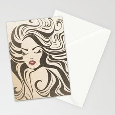 Vintage woman Stationery Cards